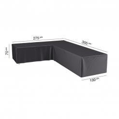 Чехол угловой для кресел и диванов 355x275x100x70