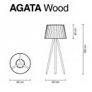 Торшер для бассейна Agata Wood, MyYour