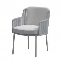 Обеденный веревочный стул Bernini Mid Grey