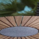 Бамбуковый обеденный стол CIRCLE Ø110 см