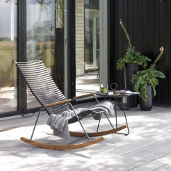 Кресло-качалка Click Black/Bamboo Houe, Дания