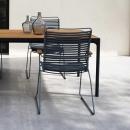 Стул обеденный Click Black/Bamboo/Grey Houe, Дания