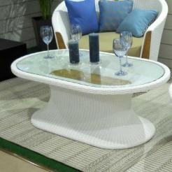 Кофейный овальный стол Corona