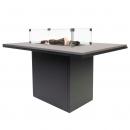 Обеденный стол-камин CosiLoft Relax, black/teak