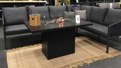 Обідній стіл-камін CosiLoft Relax, black/black