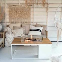 Обігрівач-стіл Cosiloft, white/teak