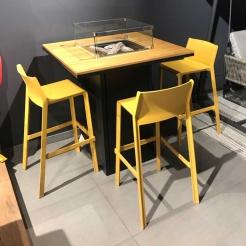 Барный стол-камин CosiLoft Bar black/teak, Cosi