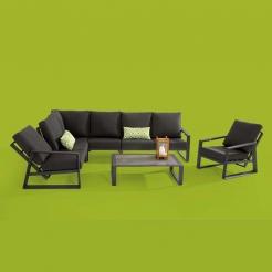 Кофейный модульный диван-реклайнер Dazzling