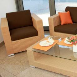 Комплект кофейный, 2 кресла + стол ELAN RH, Mazuvo
