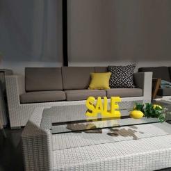 Кофейный комплект с диваном Elan 209 см