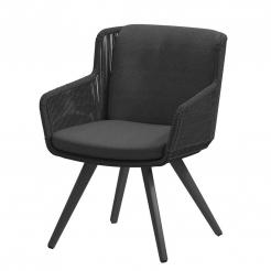 Обеденный веревочный стул  Flores Antracite
