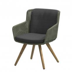Обеденный веревочный стул  Flores Green