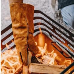 Жаропрочные перчатки из замши и кевлара BBQ Gloves