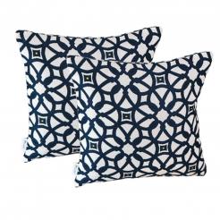 Подушка декоративная 35х35 см Luxe Indigo, Sunbrella