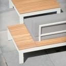 Модульный лаунж диван для террасы Mistral White