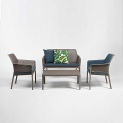 Комплект уличной мебели Net Bench, Tortora