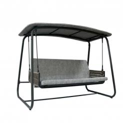 Качели-кровать Patio Swing Light Khaki/Dark Grey