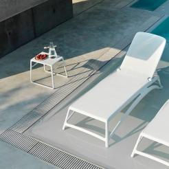 Комплект шезлонг+стол Atlantico&Pop white, Nardi