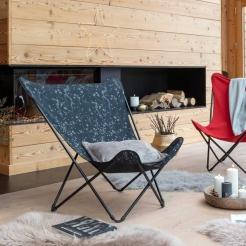 Раскладной мобильный стул Pop Up XL Celeste/Noir
