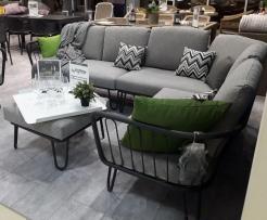 Модульный диван для террасы металл Premium