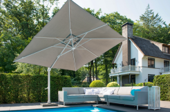 Зонт на белой ноге SIESTA Premium 300х300