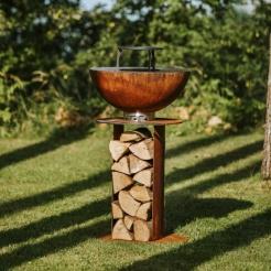 Садовый гриль-камин Stilo 600 Corten