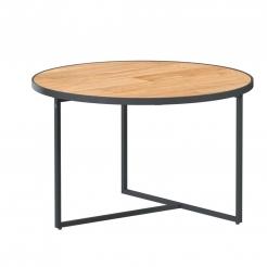 Кофейный тиковый стол Strada