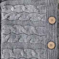 Подушка декоративна в'язана, світло-сірий